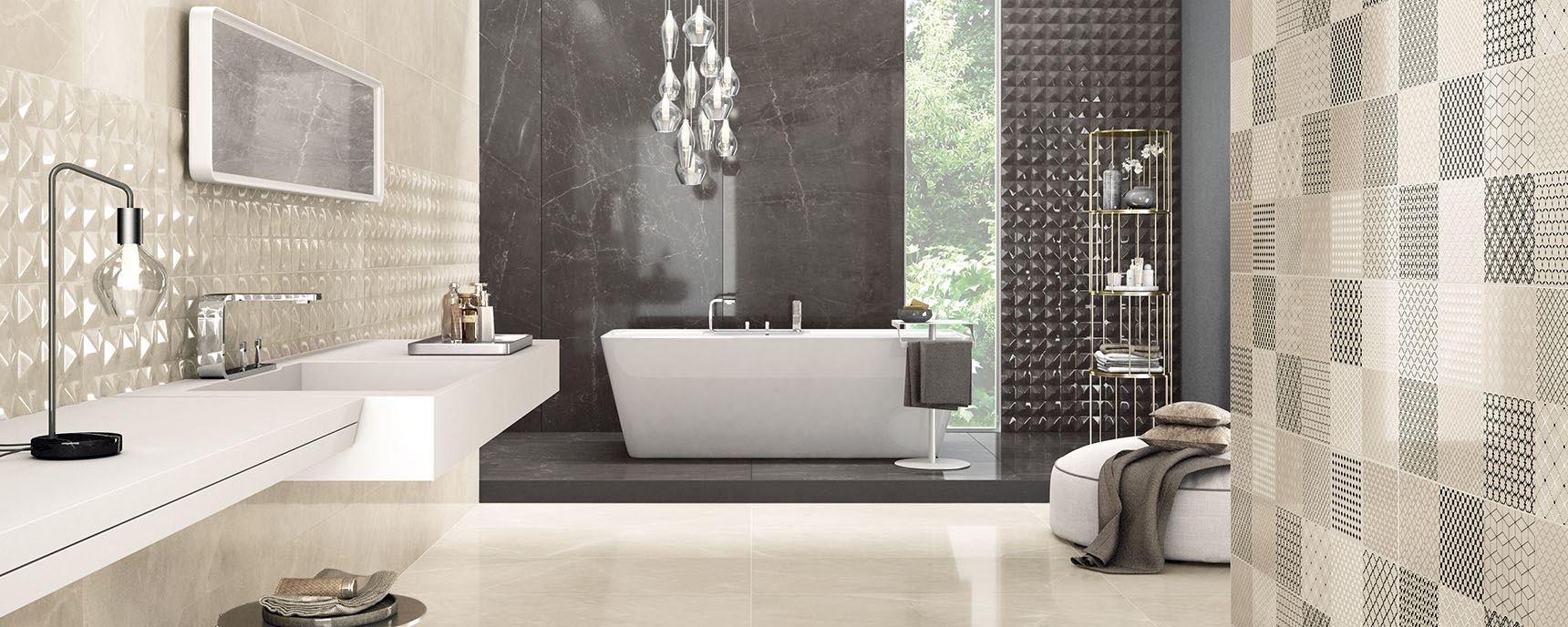 Trilogy effetto marmo per bagni eleganti panaria ceramica - Comporre un bagno ...