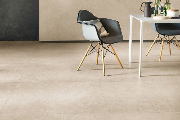 Pavimenti in gres porcellanato effetto cemento panaria - Piastrelle spessore 3 mm ...