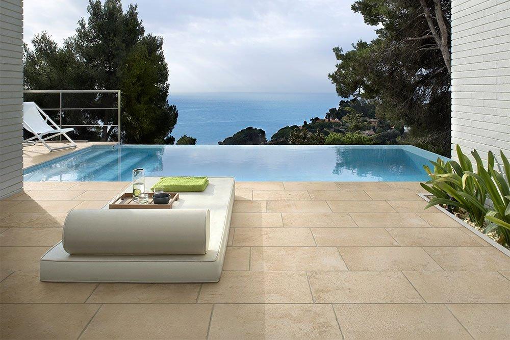 Pavimenti per esterni piastrelle in gres porcellanato panaria