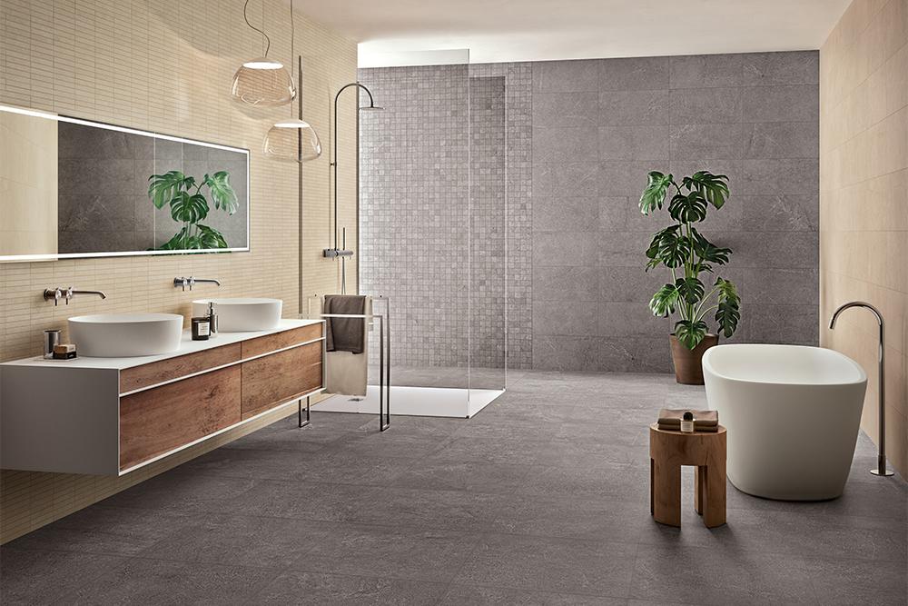 Gres porcellanato effetto pietra: pavimenti e rivestimenti panaria