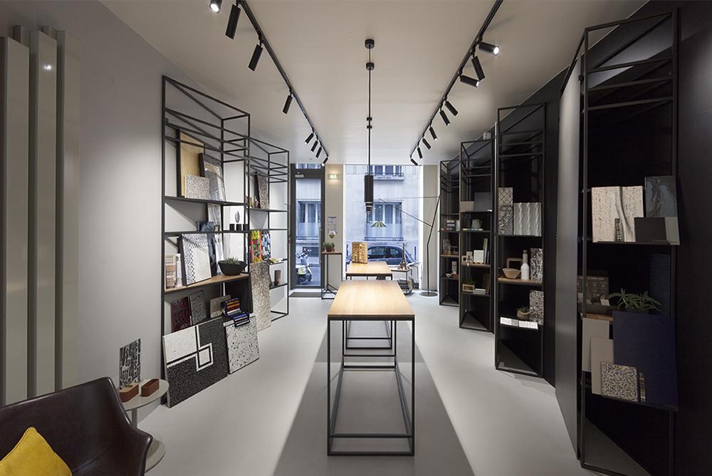 I prodotti panaria ceramica nel nuovo showroom zanutta a parigi