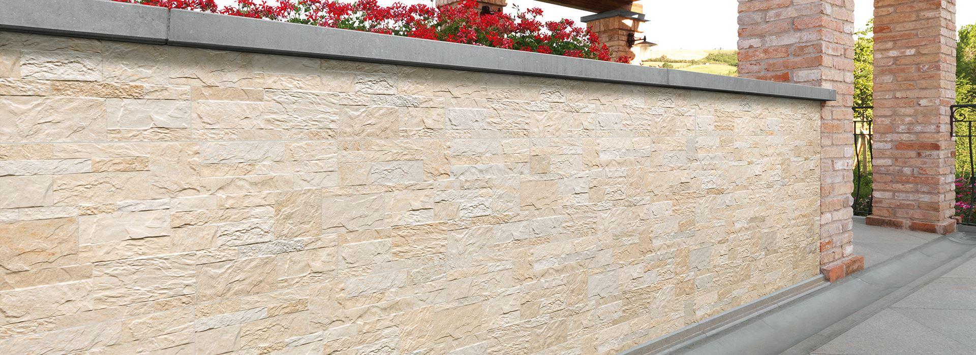 Muretto In Pietra Interno collezione rock style | pavimenti e rivestimenti panaria