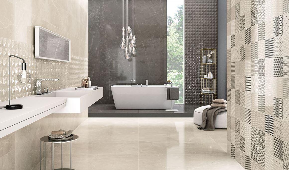 Rivestimento Bagno Con Maioliche trilogy: effetto marmo per bagni eleganti | panaria ceramica
